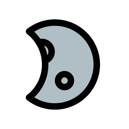 waxing gibbous moon Çizim