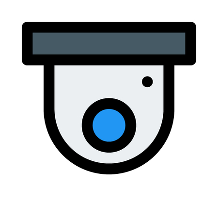 dome security camera Иллюстрация