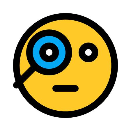 curious magnify emoji