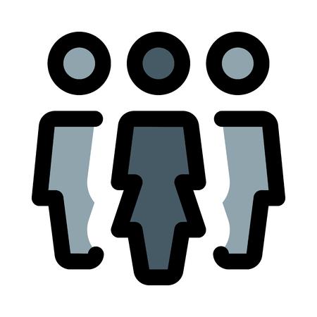 female team leader Illustration