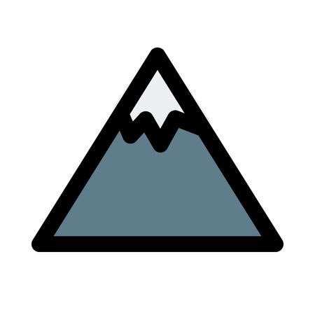 Snow peak mountain Illustration