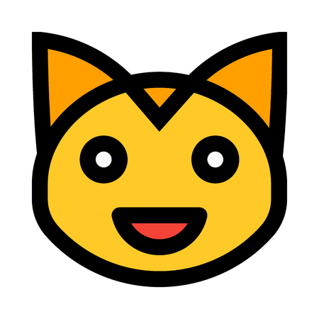 grinning cat emoticon 일러스트