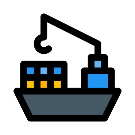 freighter icon on isolated background Illustration