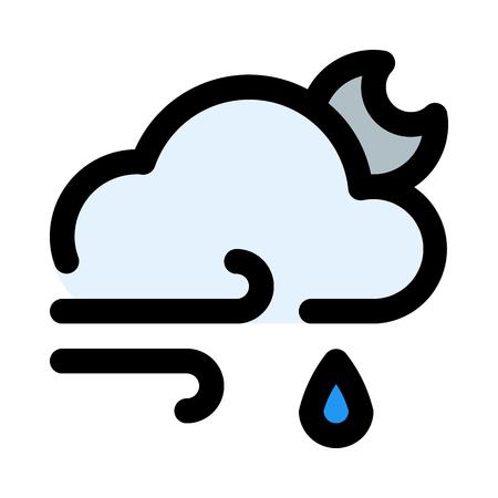 windy rain night 矢量图像