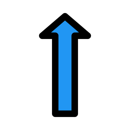 upward arrow direction