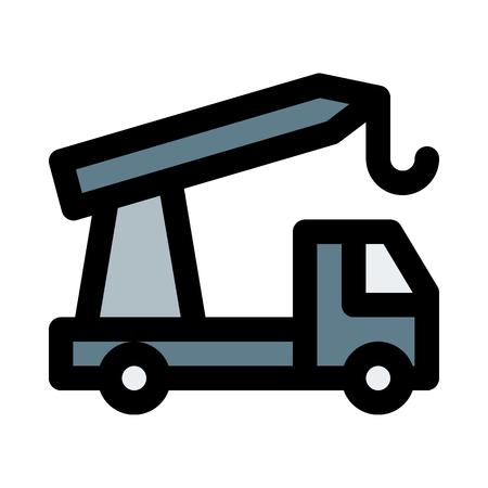 Telescopic crane truck Illustration