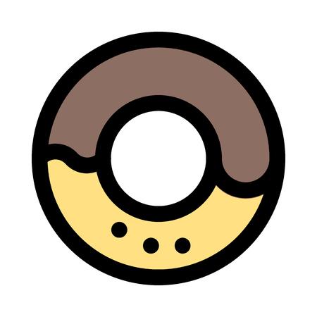 ring-shaped sprinkle donut Ilustração