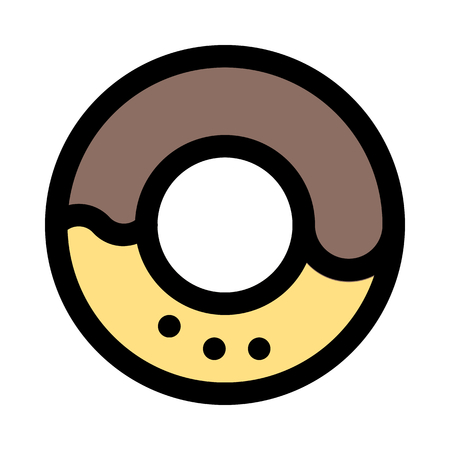 ring-shaped sprinkle donut 向量圖像