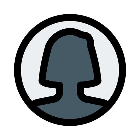 avatar de cuenta femenina Ilustración de vector