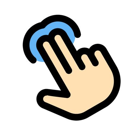 Double finger tap