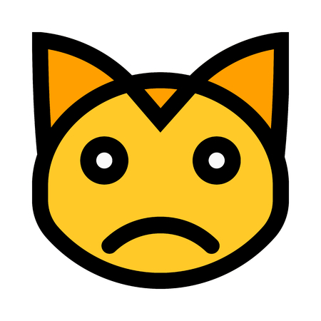 sad expression cat emoji