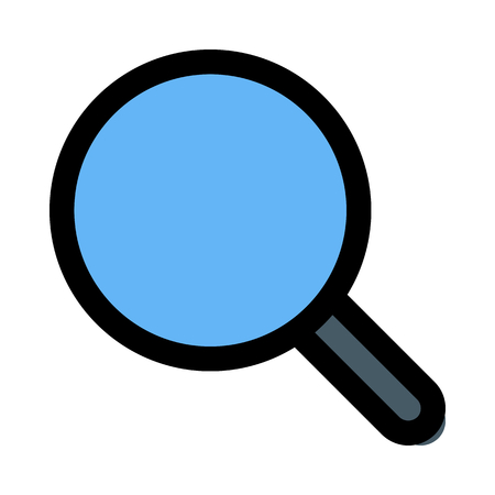 Isolated magnifying glass Çizim