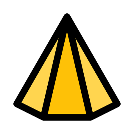 hexagonal triangular pyramid Illusztráció