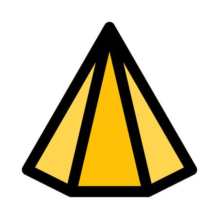 hexagonal triangular pyramid Illustration
