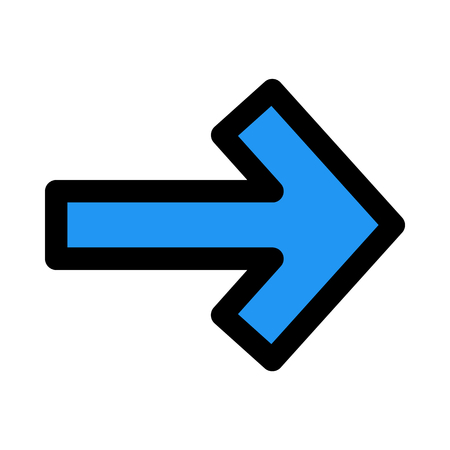 right arrow direction