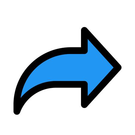 Forward arrow symbol Иллюстрация