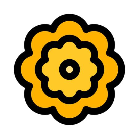 Sunflower isolated on white Ilustração