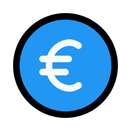 euro currency value Illustration