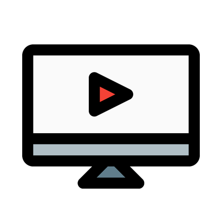video screen on isolated background Illustration