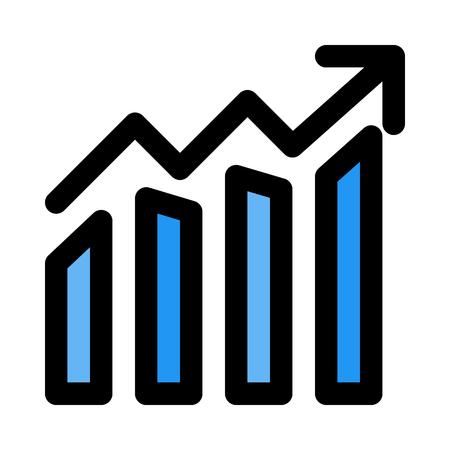 Fluctuating bar graph  イラスト・ベクター素材