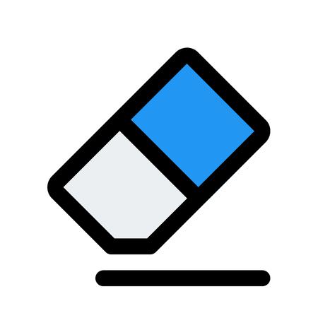 Eraser tool button