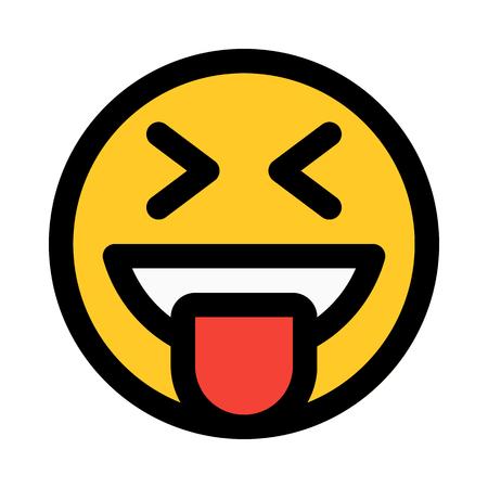 happy emoji with tongue stuck out Ilustração