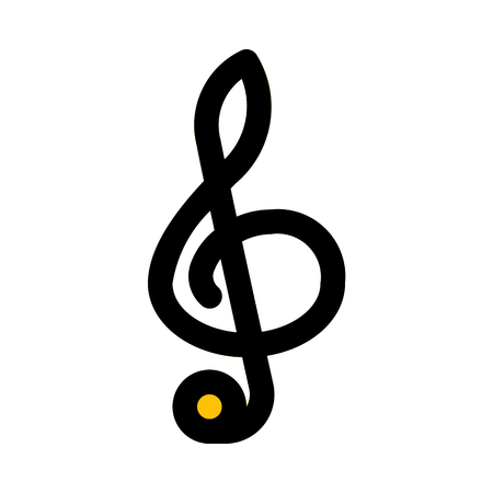 treble clef music note Illustration