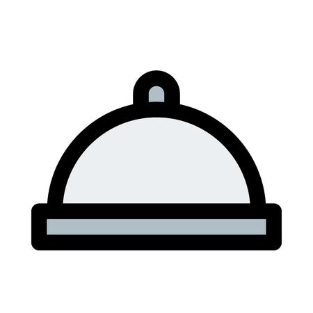 Cloche, serve fresh food.
