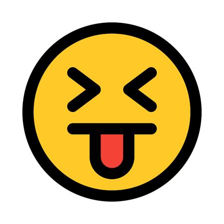 goofy eyes closed emoji