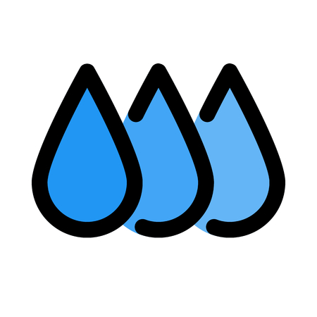 Ink level droplets