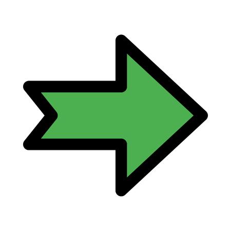 notched navigation arrow