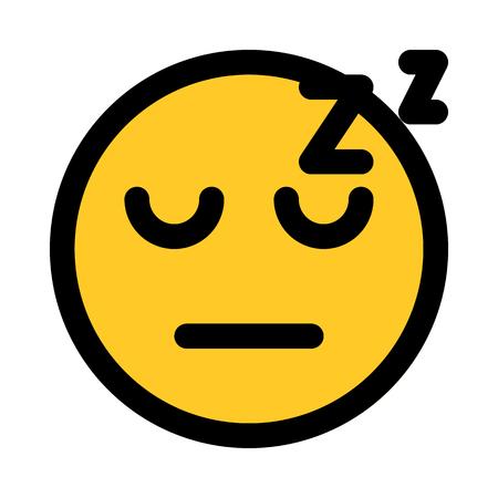 sleeping face emoji Stock Vector - 125625031