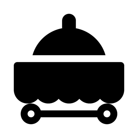 Meal service cart