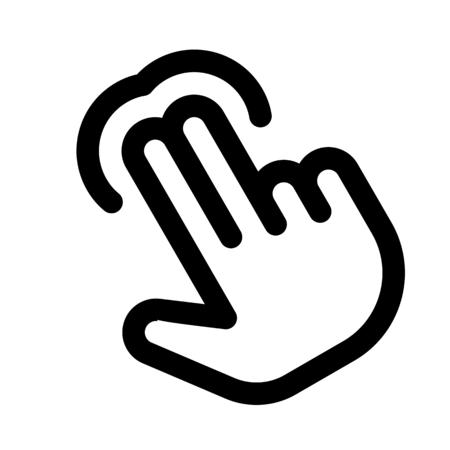 Double finger tap Illustration