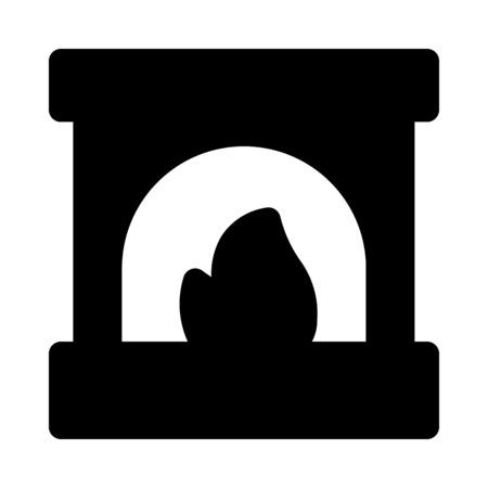 Fireplace, brick structure Ilustrace