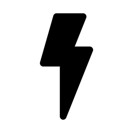flash symbol on isolated background