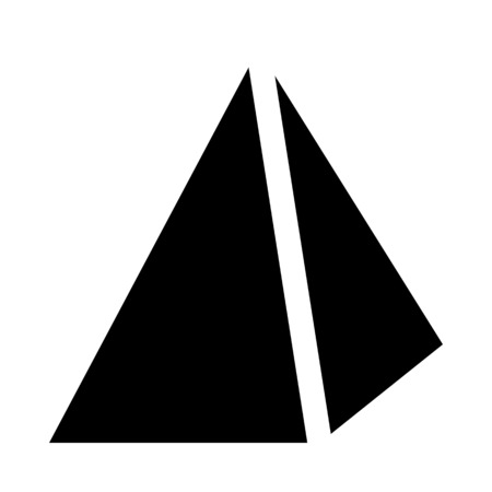 pyramid with apex point