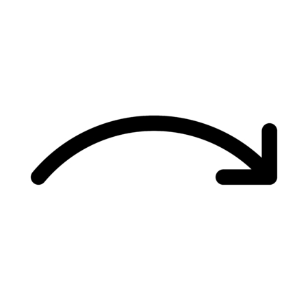 Forward curved arrow