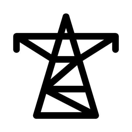 Electricity transmission tower Foto de archivo - 116530394