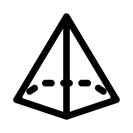 pentagonal pyramid shape Illustration
