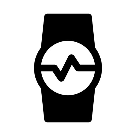 fitness tracker - sports watch 向量圖像