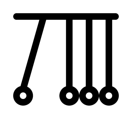 Newton pendulum experiment