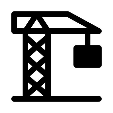 Construction tower crane Stock Illustratie