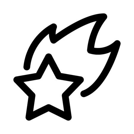 Illuminated shooting star