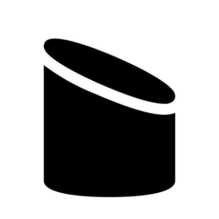 sliced cylinder shape  イラスト・ベクター素材