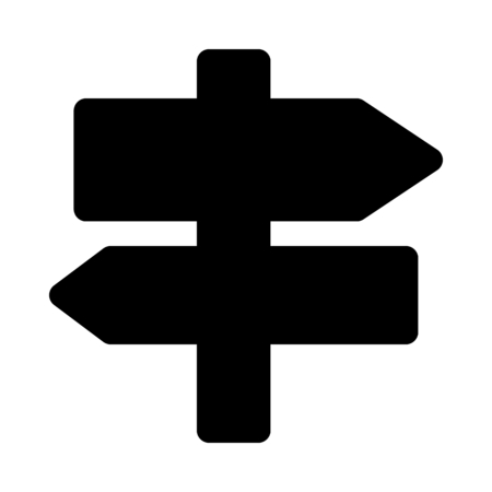 Two-way direction board
