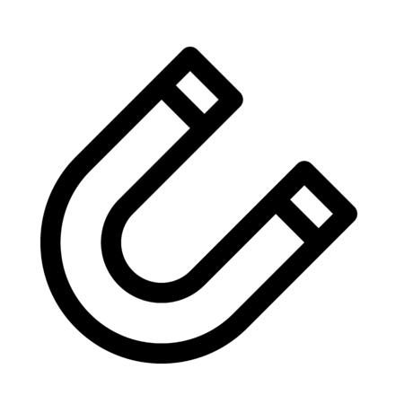 U-shaped magnet tool Illustration