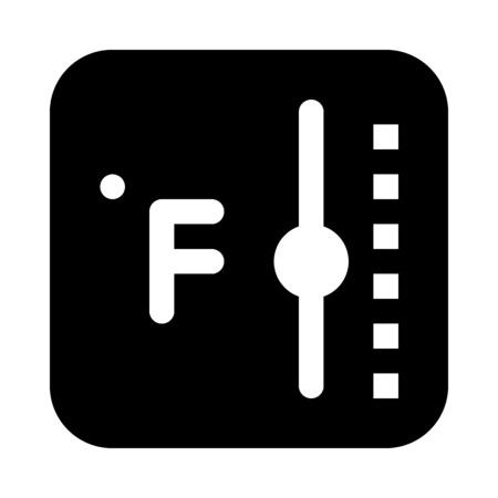 fahrenheit temperature monitor Illusztráció