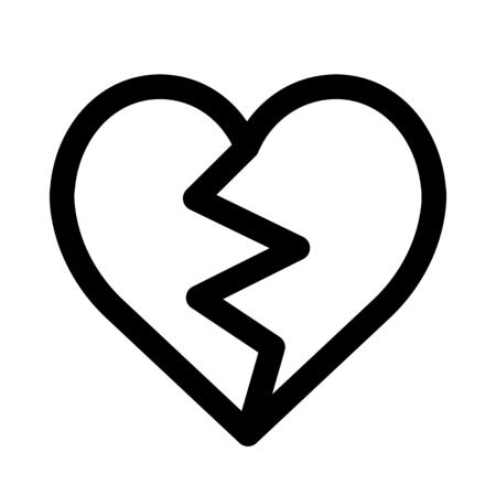 Broken love heart Stock Illustratie