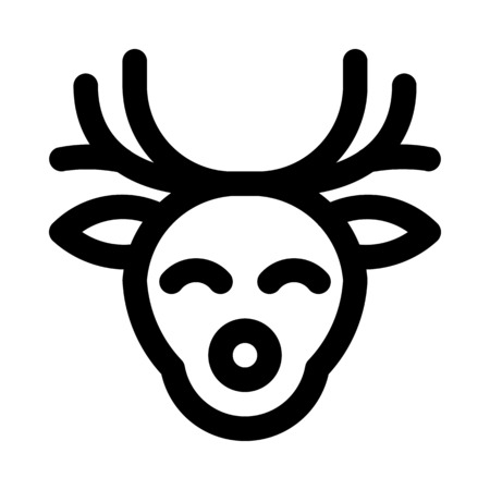 wildlife reindeer head Stock Vector - 125446697